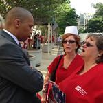 Nurses Demonstrate for Patient Care Bill & Against VA Management Attacks