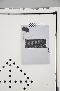 wood & wool postcard [ L O V E ]