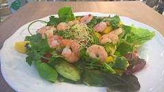 Prawn salad in chilli lime dressing