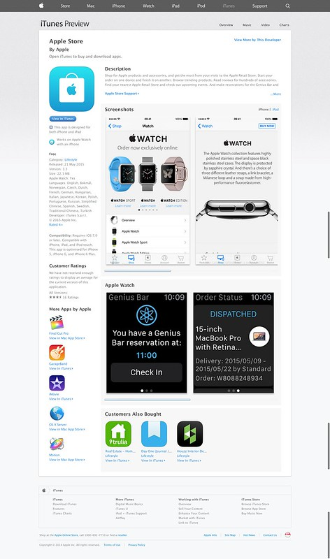 Apple Store app on iOS