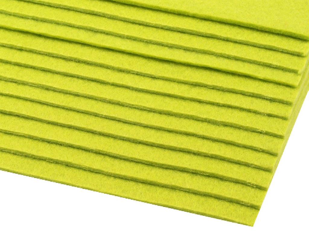 Filz (Stärke 2 - 3mm) grasgrün, VE: 12 Bögen