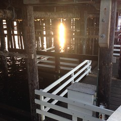 Sunset Reflection under the Wharf