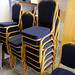 Large number of hotel/conference room chairs