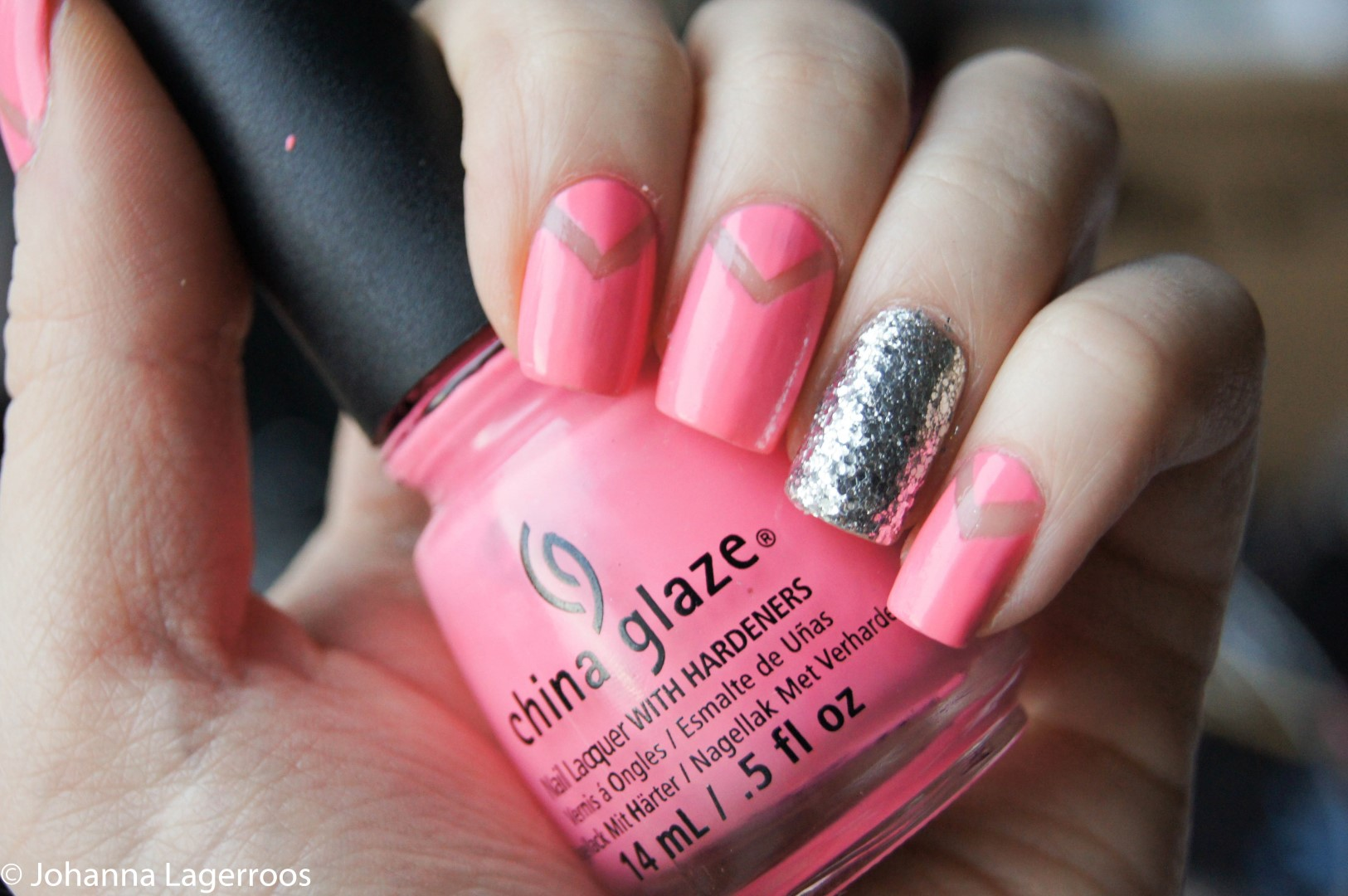 pink cut out nails