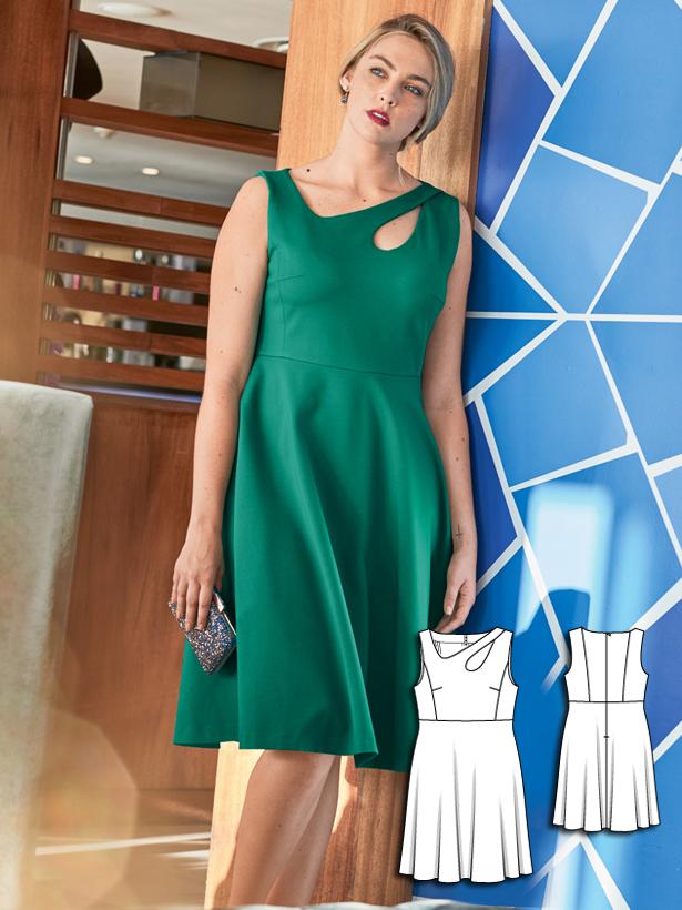 plus size tank dress sewing pattern 135-062016-B
