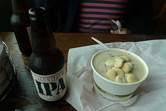 Bodega Bay - Fishermans Cove Lagunitas IPA clam chowder