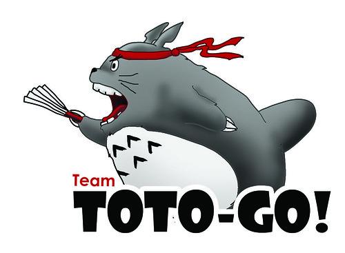 totoro back white bg