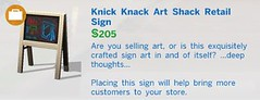 Knick Knack Art Shack Retail Sign