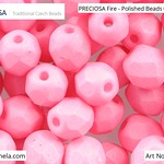 PRECIOSA Fire-Polished Beads - 151 19 001 - 02010/29560 - Melon