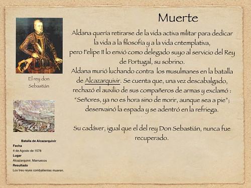 Ya no es tiempo sino de... leer a Francisco de Aldana