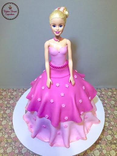Barbie Doll Cake by Cecille Pinlac of Baker Street Cupcakes