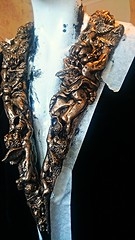 . Wearable  fine art artist, smoking jacket