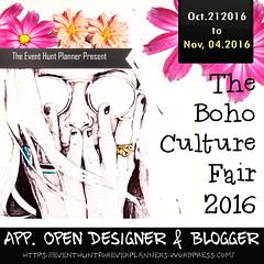 The Boho Culture Fair- 5th Aniversary App Open Designer & Blogger- Photocontest & More