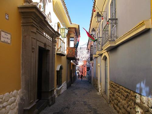 La Paz: la calle Jaen, la rue coloniale