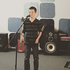 Welcome to the studio Dillon! Going into 4th grade this year!    #music #singing #studio #friends #elementary #school #kids #fun