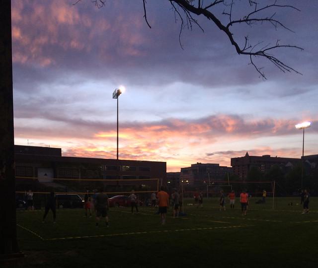 Volleyball sunset