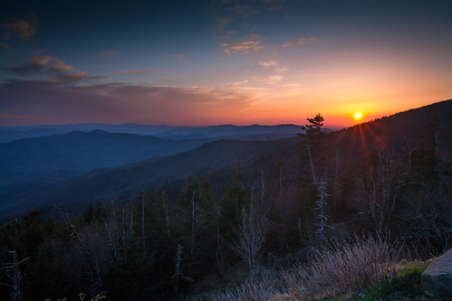 park sunset mountains landscape evening dusk national dome appalachian greatsmokymountains gloaming gsmnp clingmans