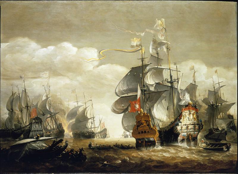 Battle of Lowestoft, by Hendrik van Minderhout