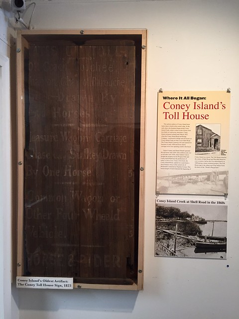 1823 Toll House Sign at Coney Island History Project