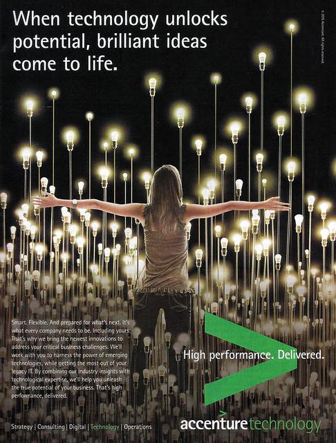 Accenture Field of Light Bulbs