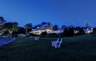 SPI Lawn at dusk