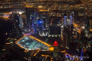 Doha Night Aerial