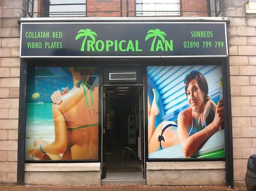 Tropical Tan Signage