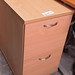 2 drawer beech file cabinet