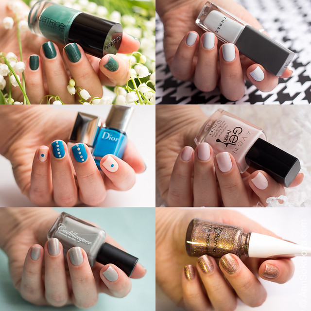 May 2016 Nails Avon, Cadillacquer, Catrice, Dior, Three, Flormar swatches
