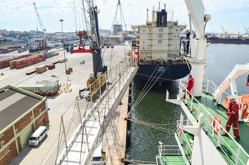 Lifting up the gangway