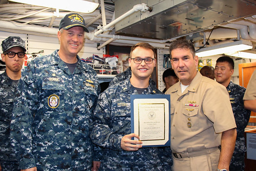 USS Cape St. George Receives Ship's Store Excellence Award