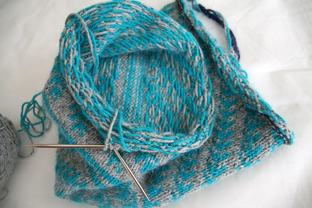 Pine Bough Cowl (inside)