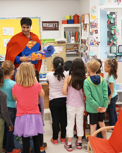 Superman Visits Richardson Elementary