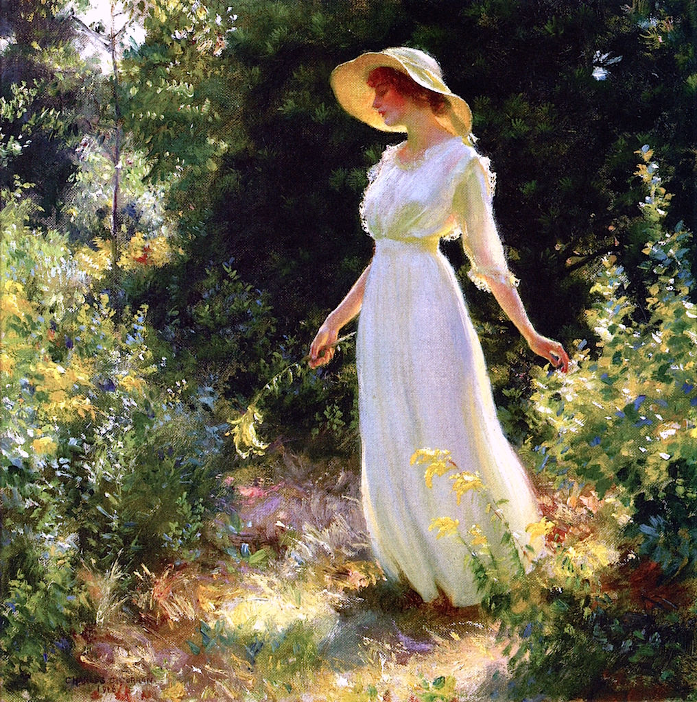 A Spray of Goldenrod by Charles Courtney Curran - 1916