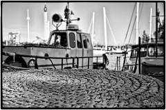 Work boat at dock in Skeppsholmen