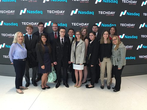 Dean's Business Scholars visits NASDAQ