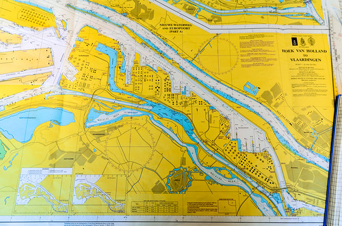 Nautical chart: Hoek van Holland to Vlaardingen