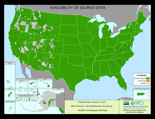 NRCS' Web Soil Survey Tool map