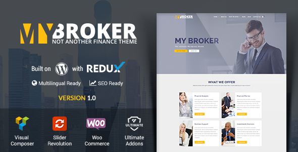 My Broker v1.0 – Business and Finance WordPress Theme