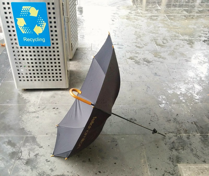 Broken umbrella (happily, not mine)