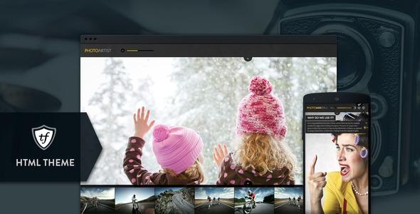 PhotoArtist v1.0.0 – Photo Showcase HTML Theme