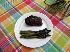 Grilled Tenderloin with Grilled Asparagus