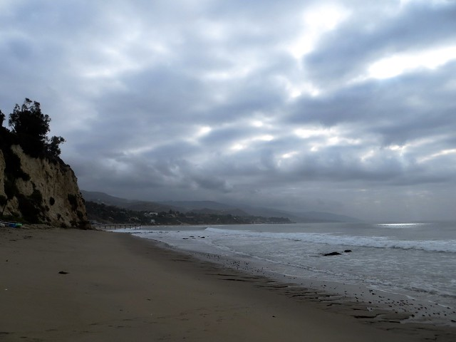 chilly and gray in paradise cove today