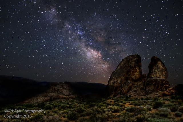 Alabama Hills Rocks and Milky Way