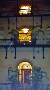 The inside of our hotel at the Treasurery