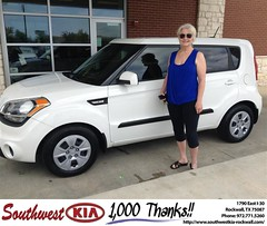 Congratulations to Pamela Pitts on your #Kia #Soul from Juan Cashat at Southwest KIA Rockwall! #NewCar