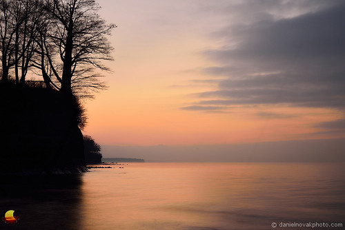 new york sunset ny beach nature water colors clouds outdoors photo mood quiet hamburg picture peaceful cliffs greatlakes photograph serene erie subtle etbtsy