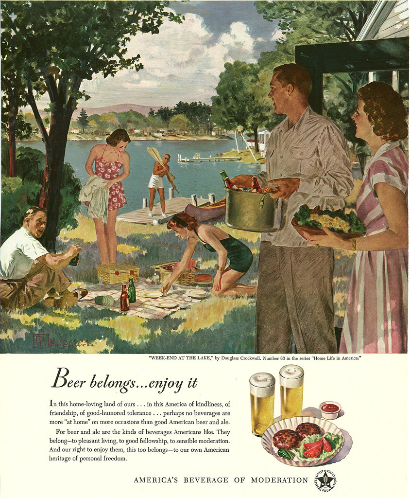 033. Week-End at the Lake by Douglass Crockwell, 1949