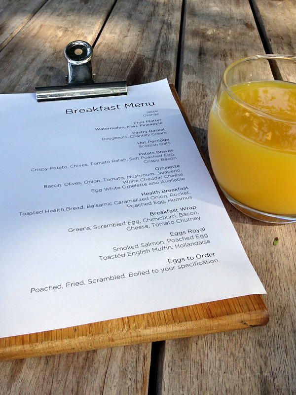 Lion Sands Private Game Reserve Breakfast Menu