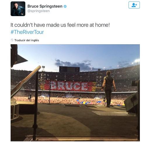 Bruce Springteen Twitter. Barcelona 2016